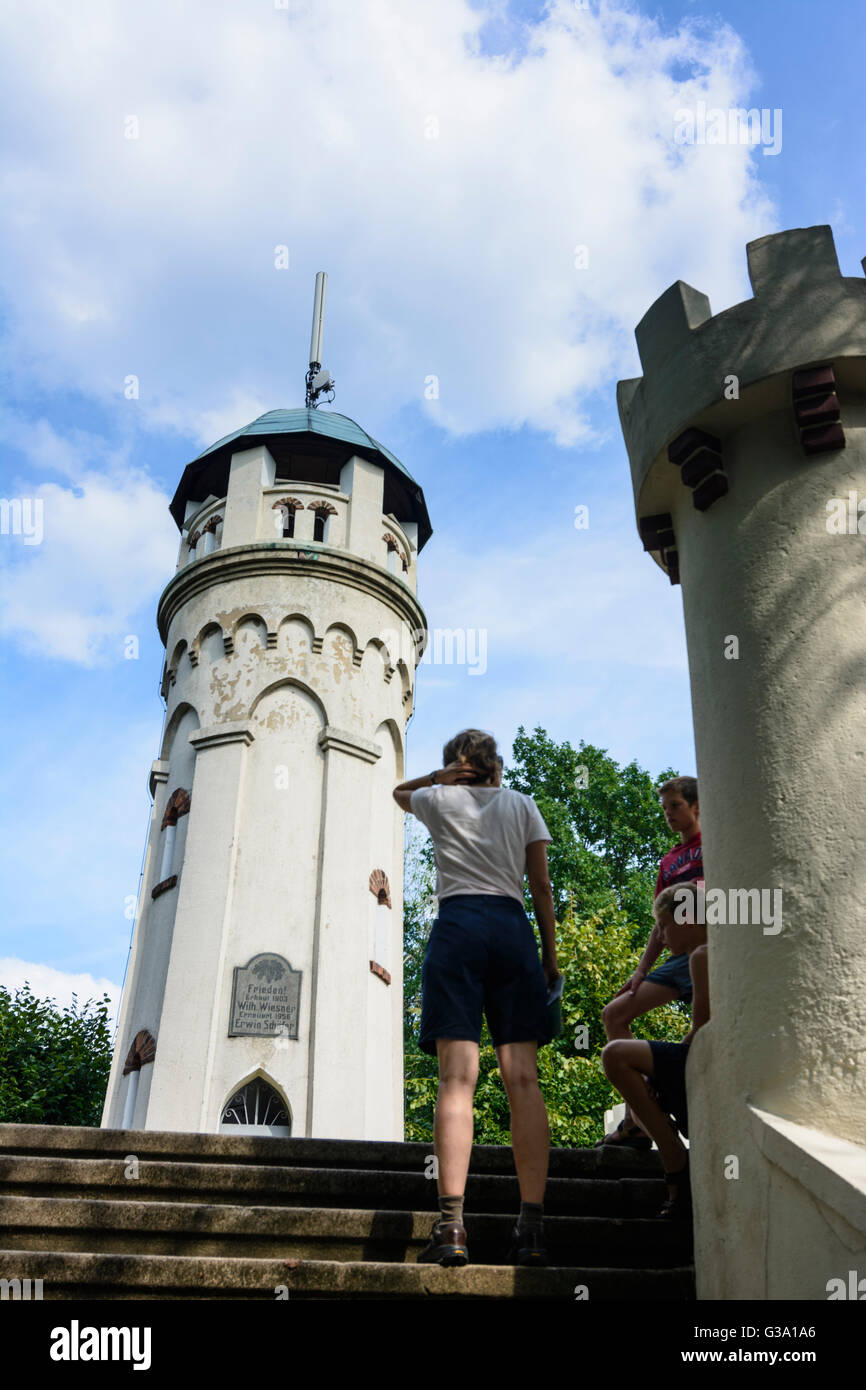 outlook tower Friedensturm (Bismarckwarte), Germany, Sachsen, Saxony, , Weinböhla - Stock Image