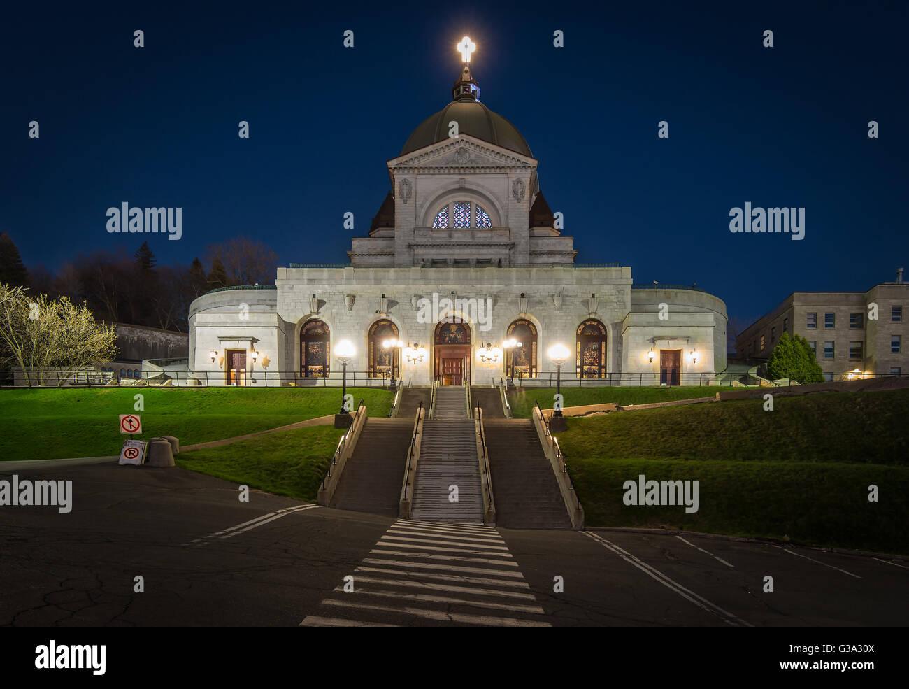 Saint Joseph Oratory Blue Hour - Montreal,QC,Canada - Stock Image