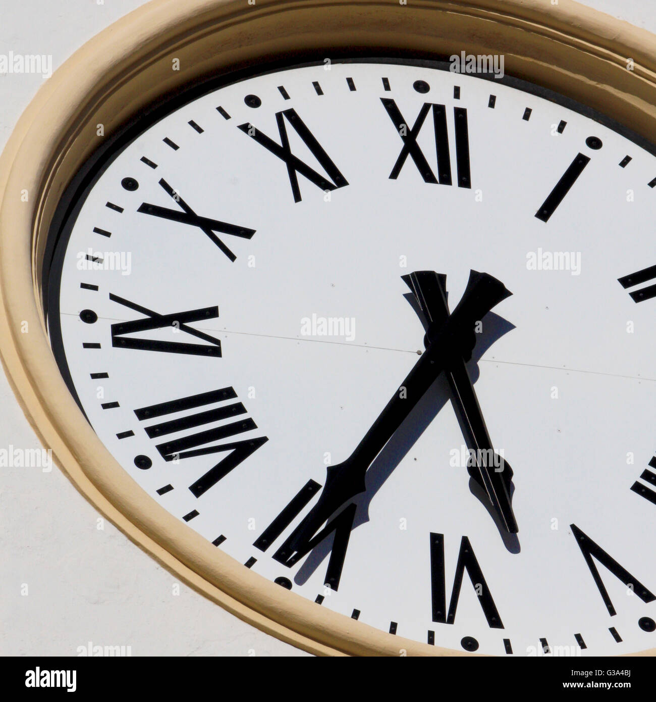 big clock closeup in daylight - Stock Image