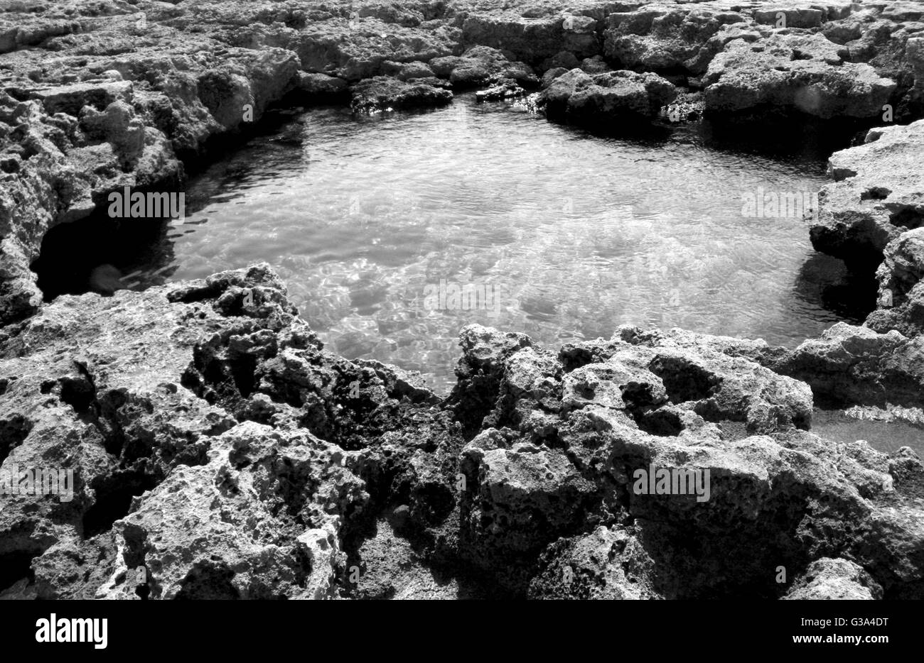 natural pool of sea water in Italy - Stock Image