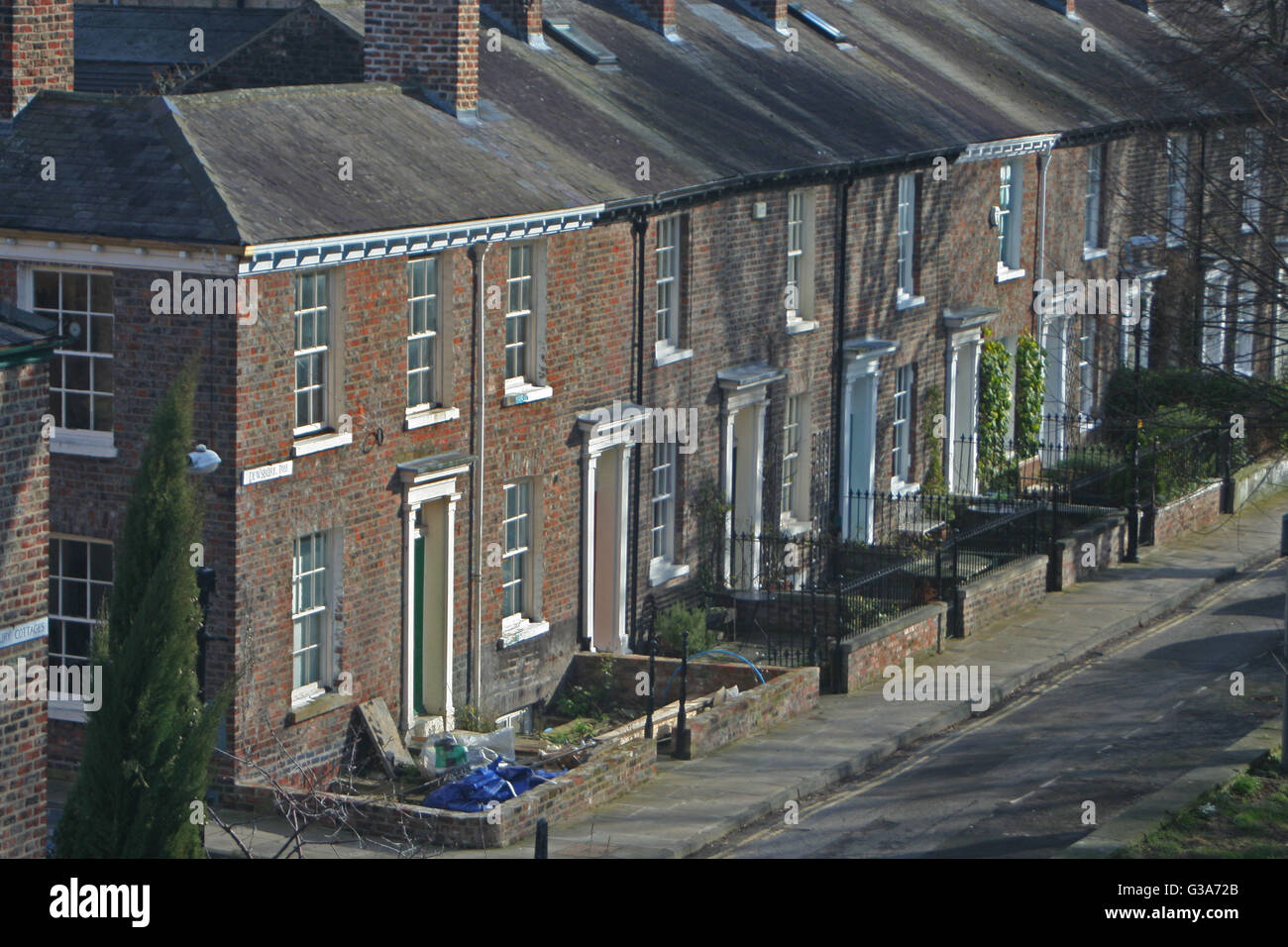 Dewsbury Terrace, York - Stock Image