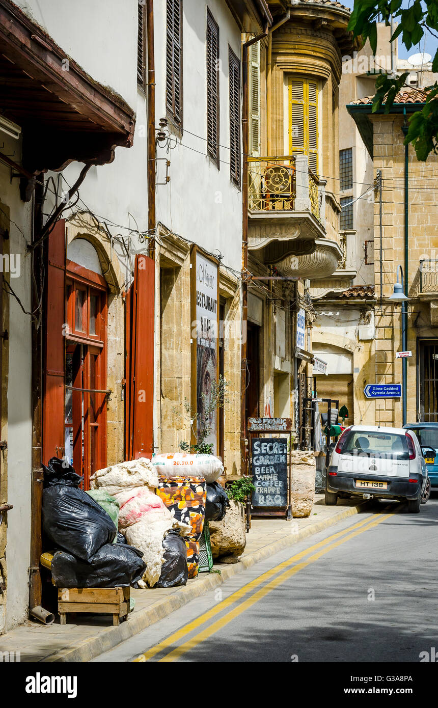 Shop on a street in Northern Nicosia, capital of Northern Cyprus. - Stock Image