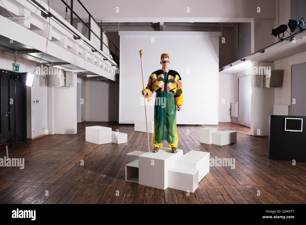 Extravagant fashion show - Stock Image