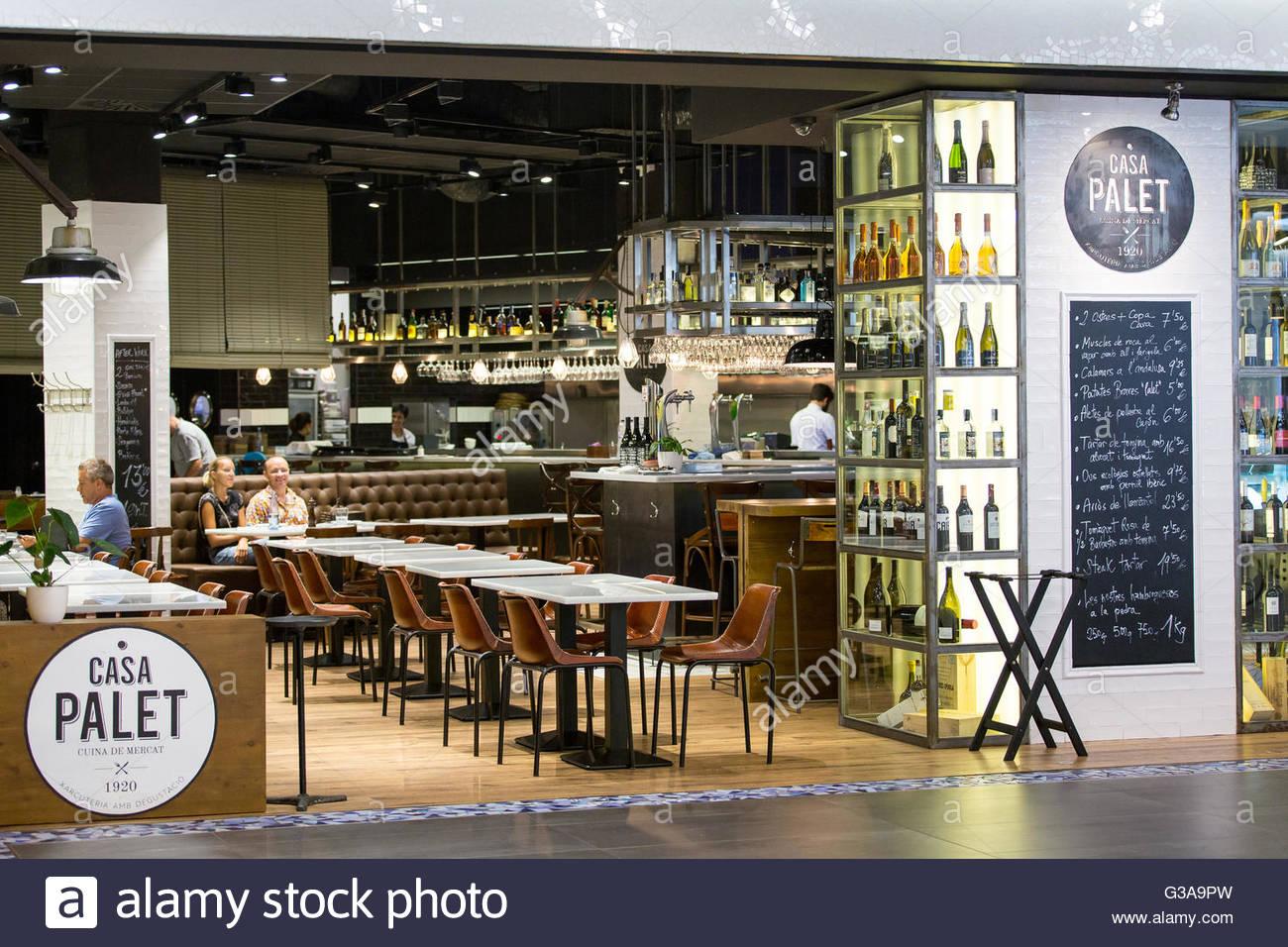 Spain, Catalonia, Barcelona, Mercat des Glories, Casa Palet restaurant - Stock Image