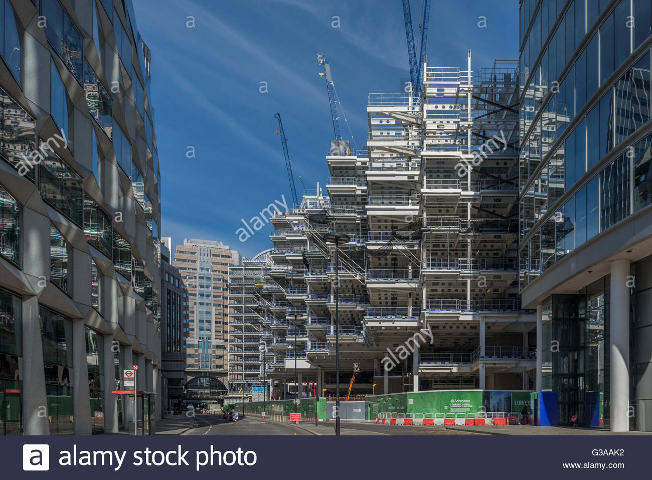 London Wall Place construction - Stock Image