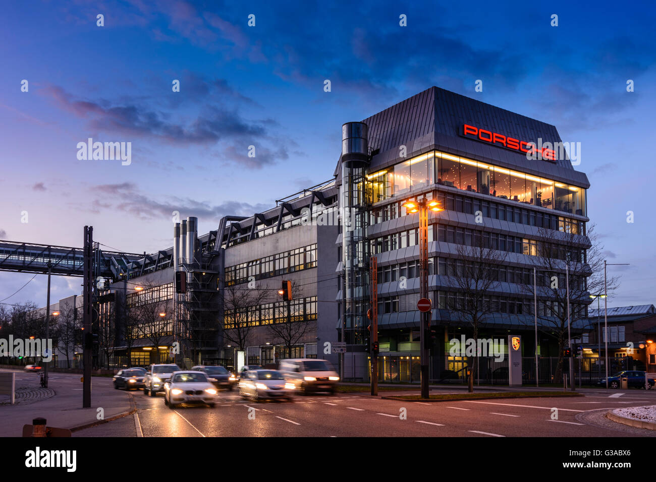 Porsche Factory And Headquarters In Zuffenhausen Germany