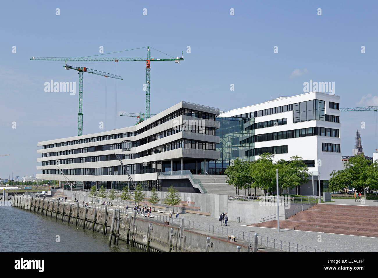 Harbour City University, Hamburg, Germany - Stock Image