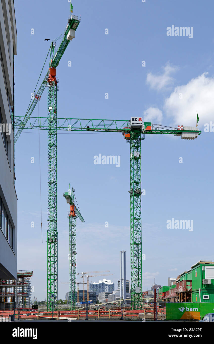 building site, Harbour City, Hamburg, Germany - Stock Image
