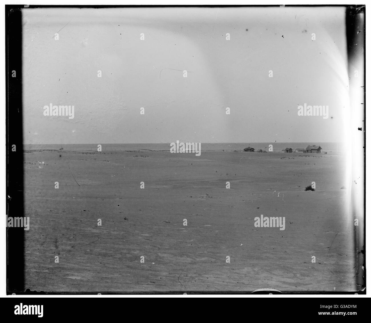 Long-range view of the Kitty Hawk Lifesaving Station and