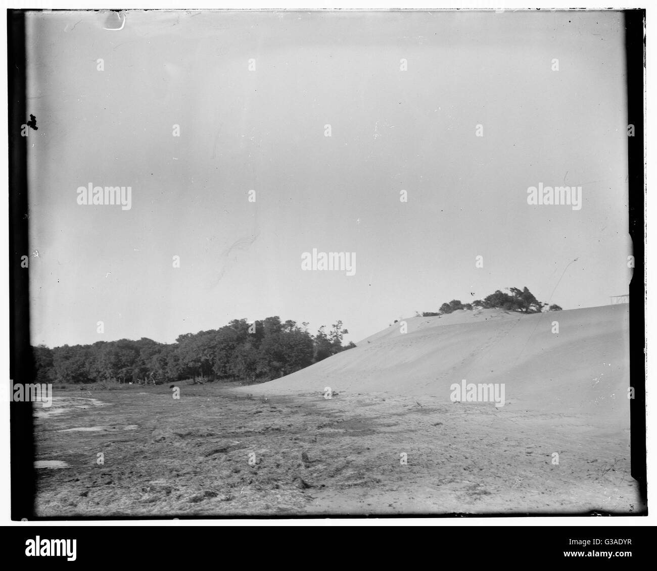 Hill between Kitty Hawk and Kill Devil Hill. Date 1900. - Stock Image