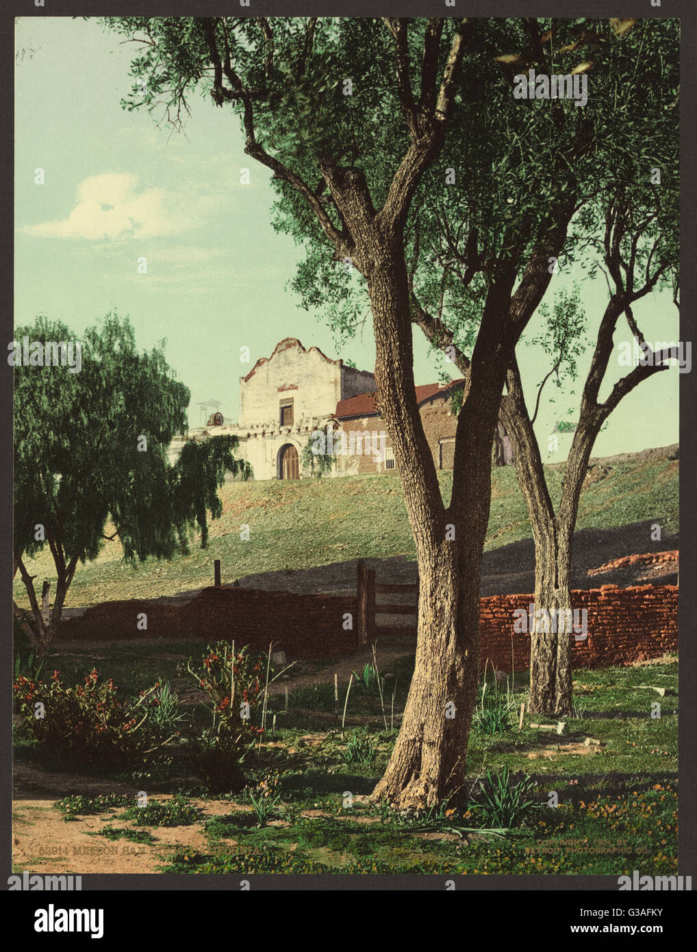 Mission San Diego, California. Date c1904. - Stock Image