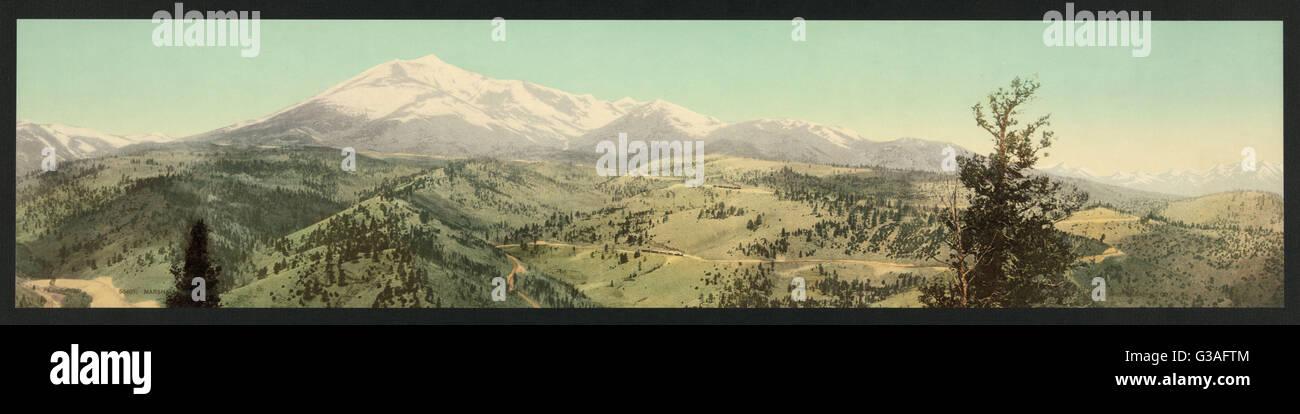Marshall Pass, Colorado. Date c1899. Stock Photo