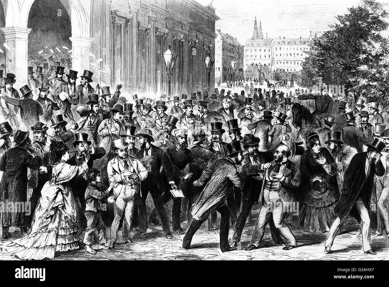 The failure of the stock exchange in Vienna, 9th May 1873. Date ...