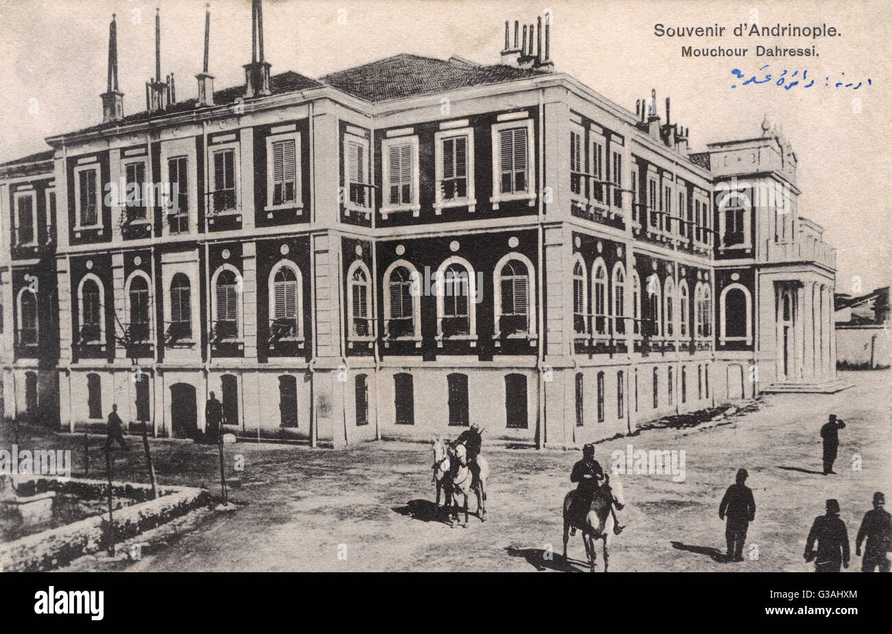 Offices of the Field Marshall at Edirne, Turkey     Date: circa 1910 - Stock Image