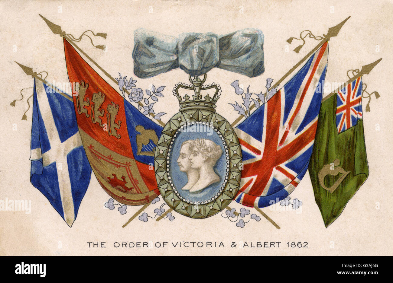 The Victoria and Albert Order - instituted in 1862. Divided into four classes, the first and second are restricted - Stock Image
