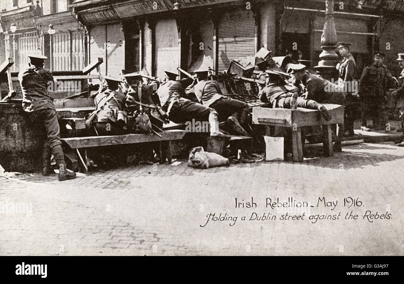 The Easter Rising also known as the Easter (or 'Irish') Rebellion and referred to erroneously in some contemporary Stock Photo