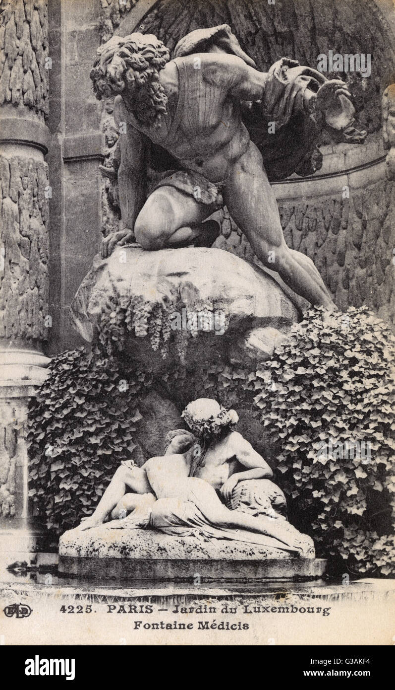 Jardin du Luxembourg, Paris - Fontaine de Medicis. Built in about 1630 by Marie de' Medici, the widow of King - Stock Image