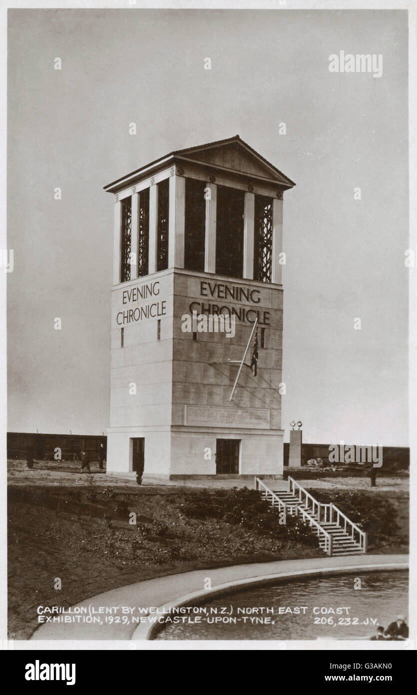 Carillon (lent by Wellington, New Zealand) - North East Coast Exhibition - Newcastle-upon-Tyne.     Date: 1929 - Stock Image