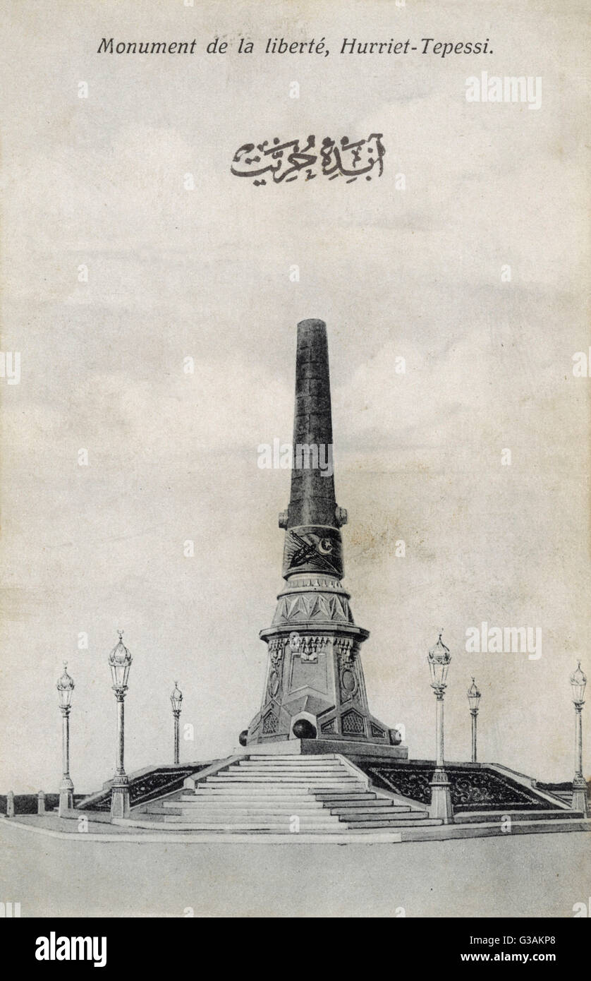 The Monument of Liberty (Hurriyet Aniti, Abide-i Hurriyet) in the isli district of Istanbul, Turkey. A memorial - Stock Image