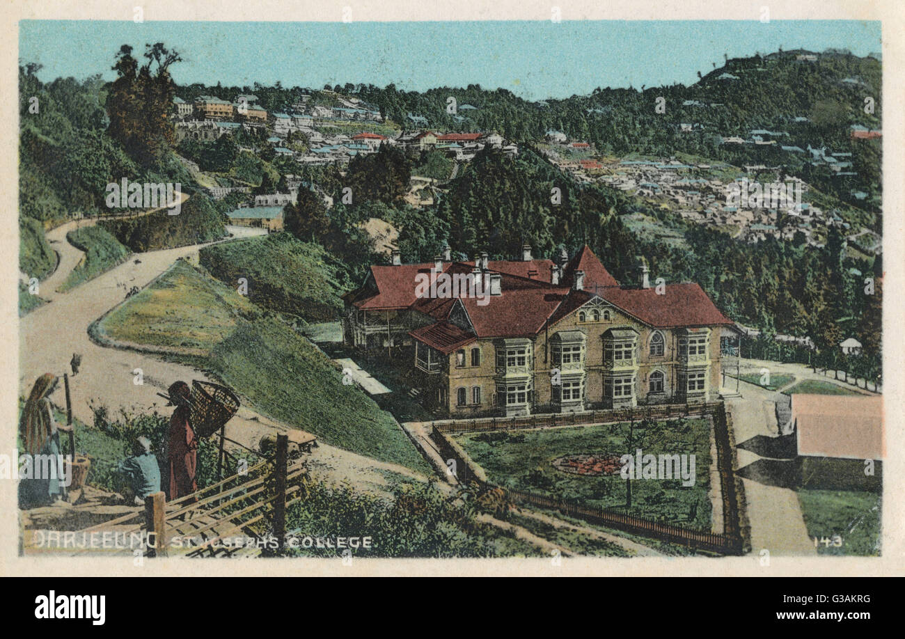 St. Joseph's College, Darjeeling, West Bengal, India. The college was established in 1888 along with the School - Stock Image