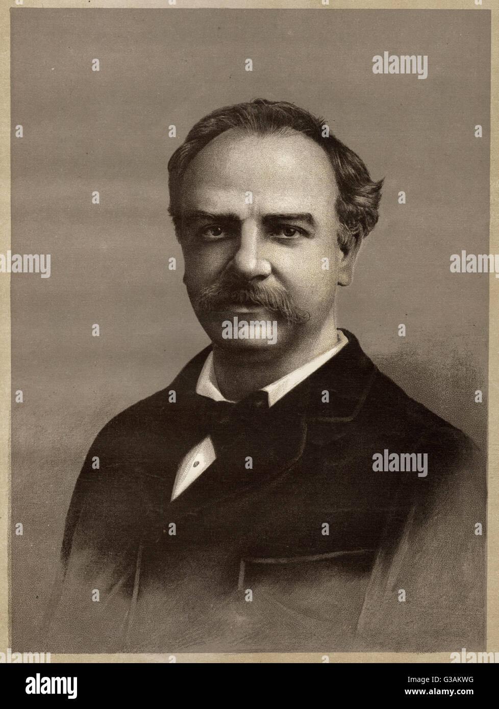 Sir Charles Santley (1834 - 1922), English opera and oratorio singer - Stock Image