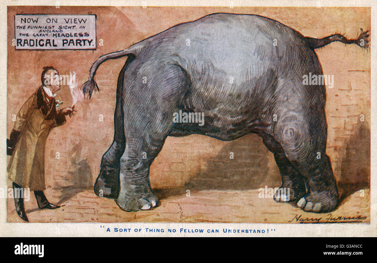 The Great Headless Radical Party - 'The sort of thing no fellow can understand!'. Joseph Chamberlain mocking - Stock Image