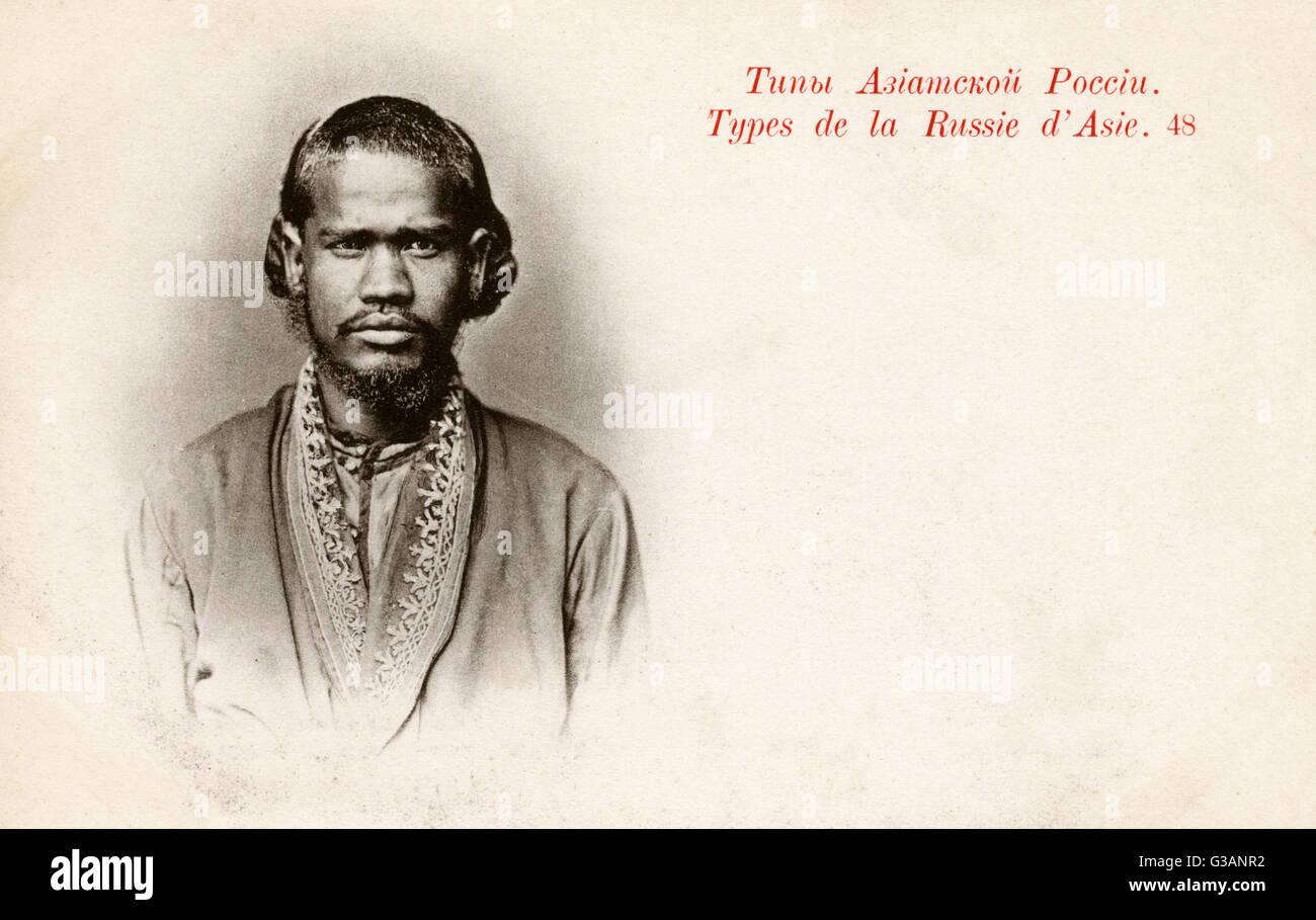 Physiognomy - Russian Asian Type (1/2) - Front face view.     Date: 1902 - Stock Image