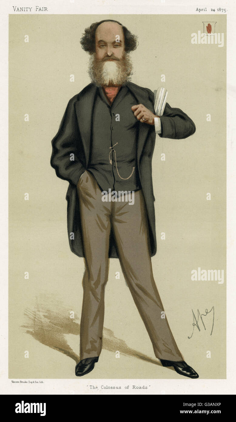 Sir George Samuel Jenkinson, 11th Baronet (1817  1892), British Conservative politician.  Caption: 'The Colossus - Stock Image