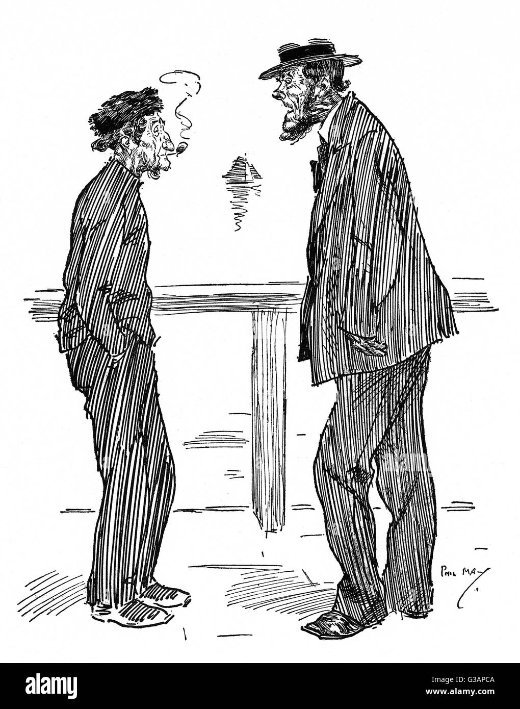 """""""Tain't so long ago, Willium, since you an' me was the Dandies of Deal!""""     Date: circa - Stock Image"""