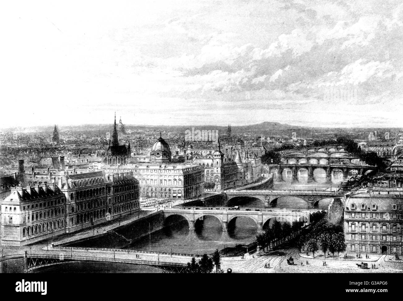Paris, France - General View Date: circa 1850