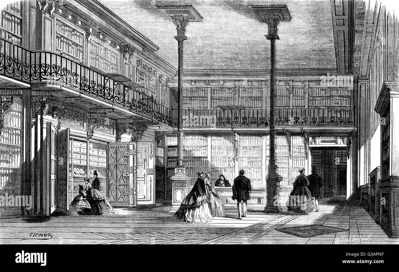 Paris, France - Palais des Archives.     Date: 1867 - Stock Image