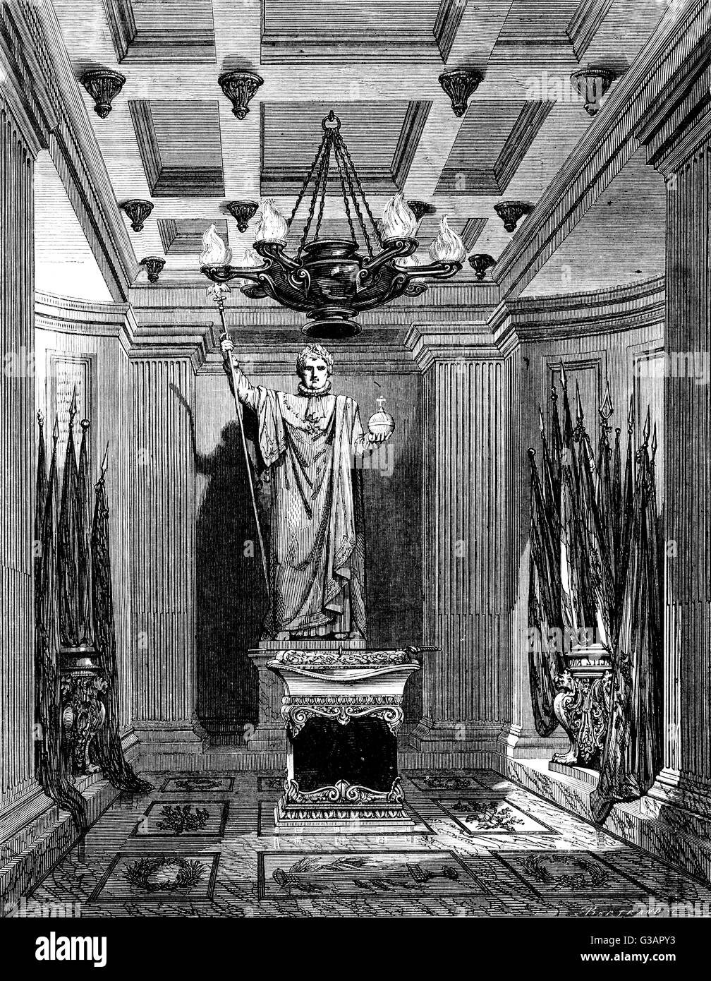 Paris, France - Invalides, Tombeau de Napoleon II, son of Napoleon Bonaparte.     Date: circa 1855 Stock Photo