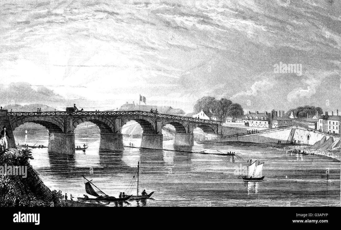 Paris, France - Choisi-Le-Roi.     Date: 1828 - Stock Image