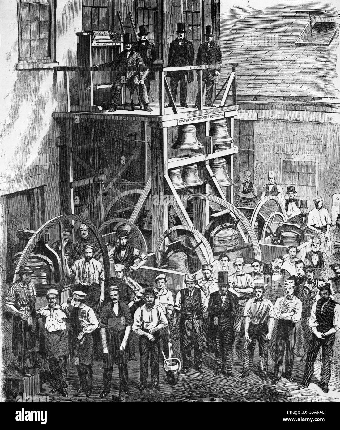 CHURCH BELLS CHIME OF THIRTEEN CHURCH BELLS MESSRS 1860
