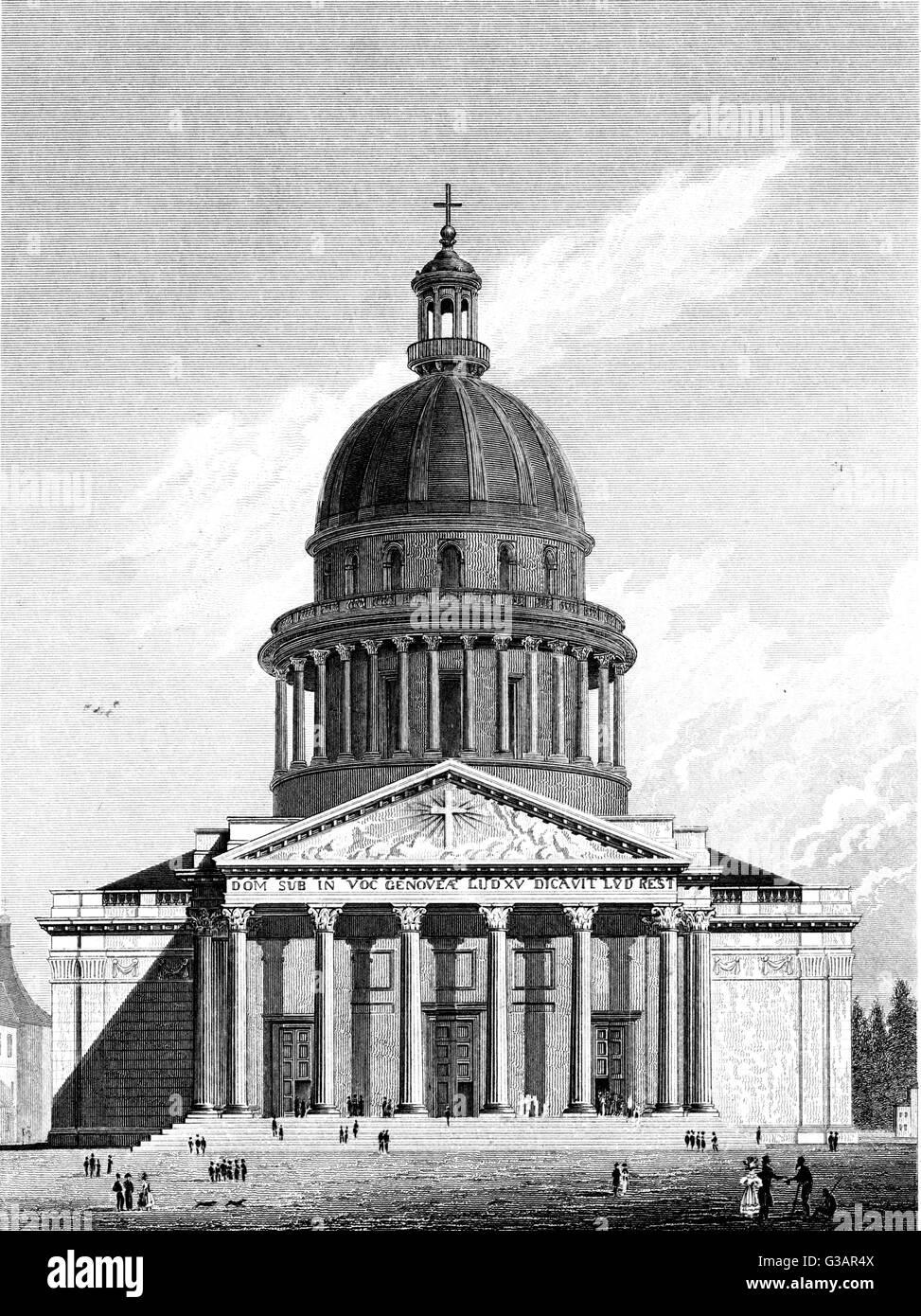 Paris, France - Eglise Sainte-Genevieve.     Date: 1829 Stock Photo
