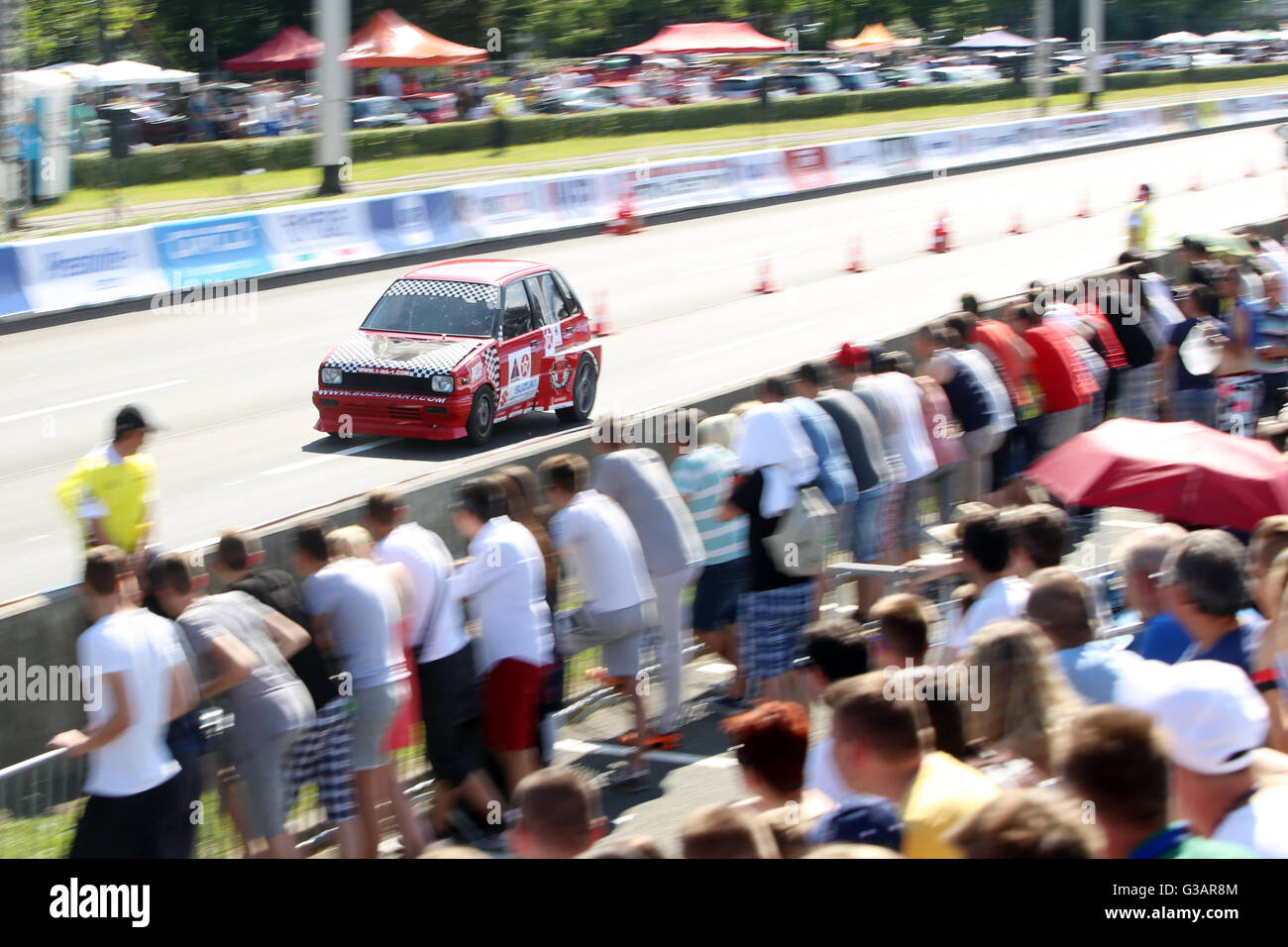Suzuki Sport Car Is Racing At Fast And Furious Street Race At Avenue Stock Photo Alamy