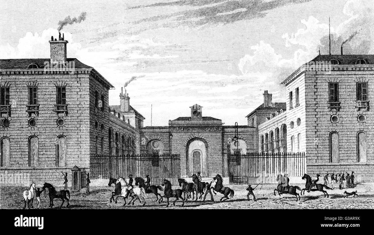 Paris, France - Ecuries du Roi.     Date: 1829 - Stock Image