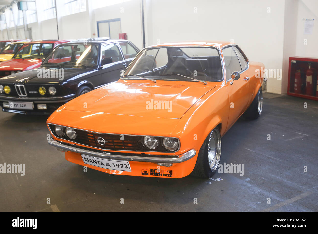 an opel manta 1973 oldtimer automobile exhibited at fast. Black Bedroom Furniture Sets. Home Design Ideas