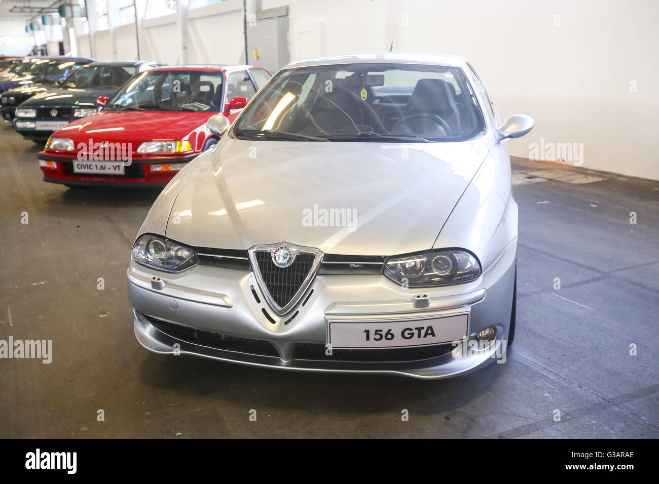 ZAGREB, CROATIA - JUNE 4, 2016 : An Alfa Romeo 156 automobile exhibited at Fast and furious street race in Zagreb, Stock Photo
