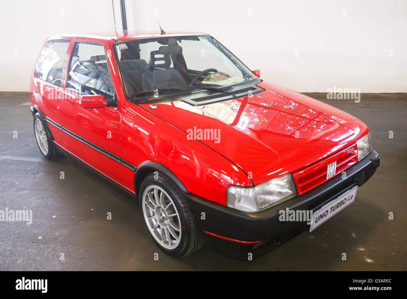 Zagreb Croatia June A Fiat Uno Turbo Ie Exhibited At Fast And G Arec on Red Fiat Uno Turbo