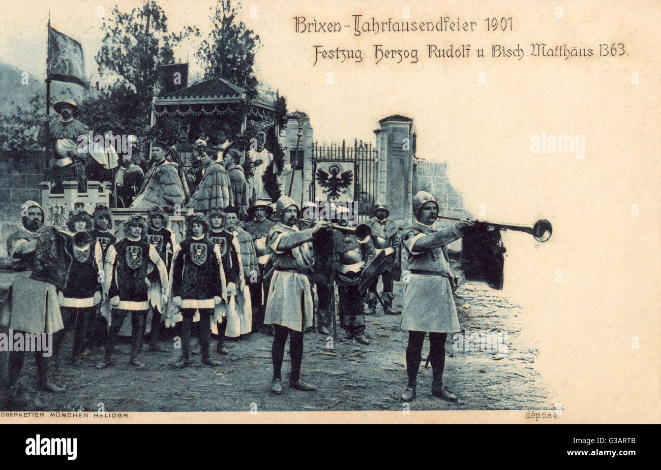 Brixen Thousand Year Festival, Tyrol, Austria, showing a scene relating to Duke Rudolf and Bishop Matthaus in 1363. Stock Photo
