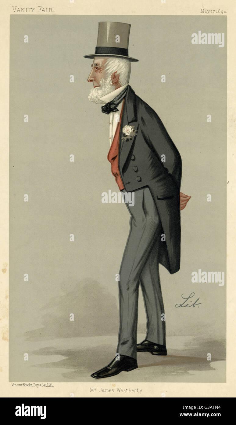 James Weatherby (1810? - ?), sportsperson.     Date: 1890 Stock Photo