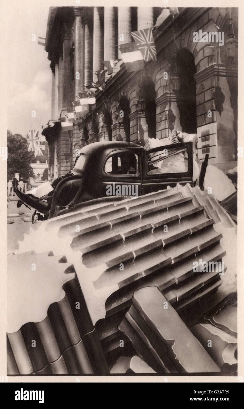 WW2 - Paris Liberation - Damage at the Hotel Crillon.     Date: 1945 - Stock Image