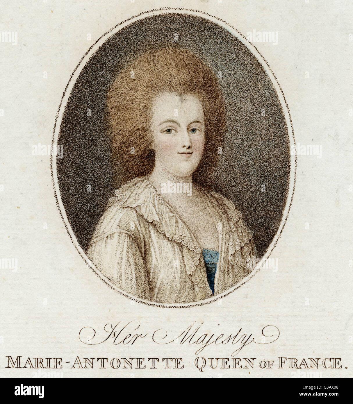 Queen of Louis XVI          Date: 1755 - 1793 - Stock Image