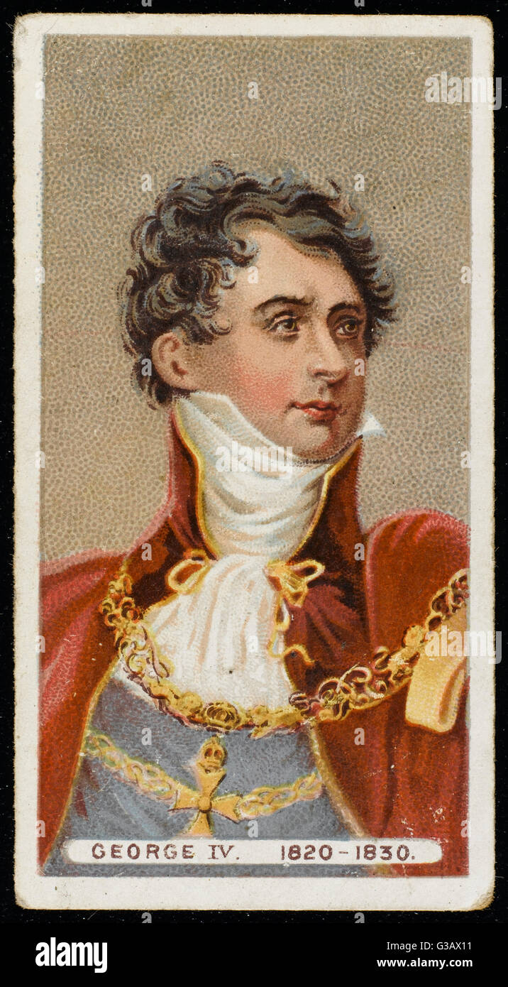 GEORGE IV OF ENGLAND  looking rather dashing        Date: 1762 - 1830 - Stock Image