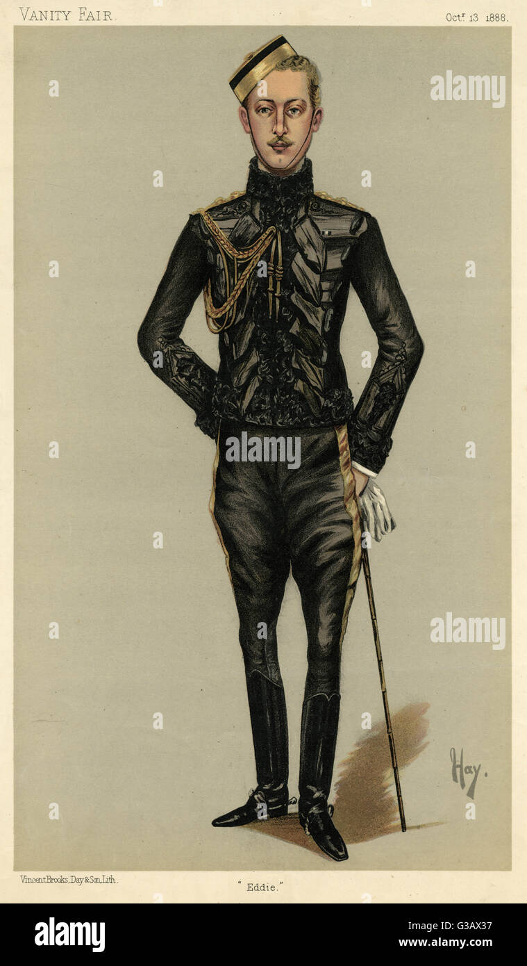 ALBERT VICTOR, DUKE OF CLARENCE AND AVONDALE  Elder son of Edward VII, died  of pneumonia aged 28.      Date: 1864 - Stock Image