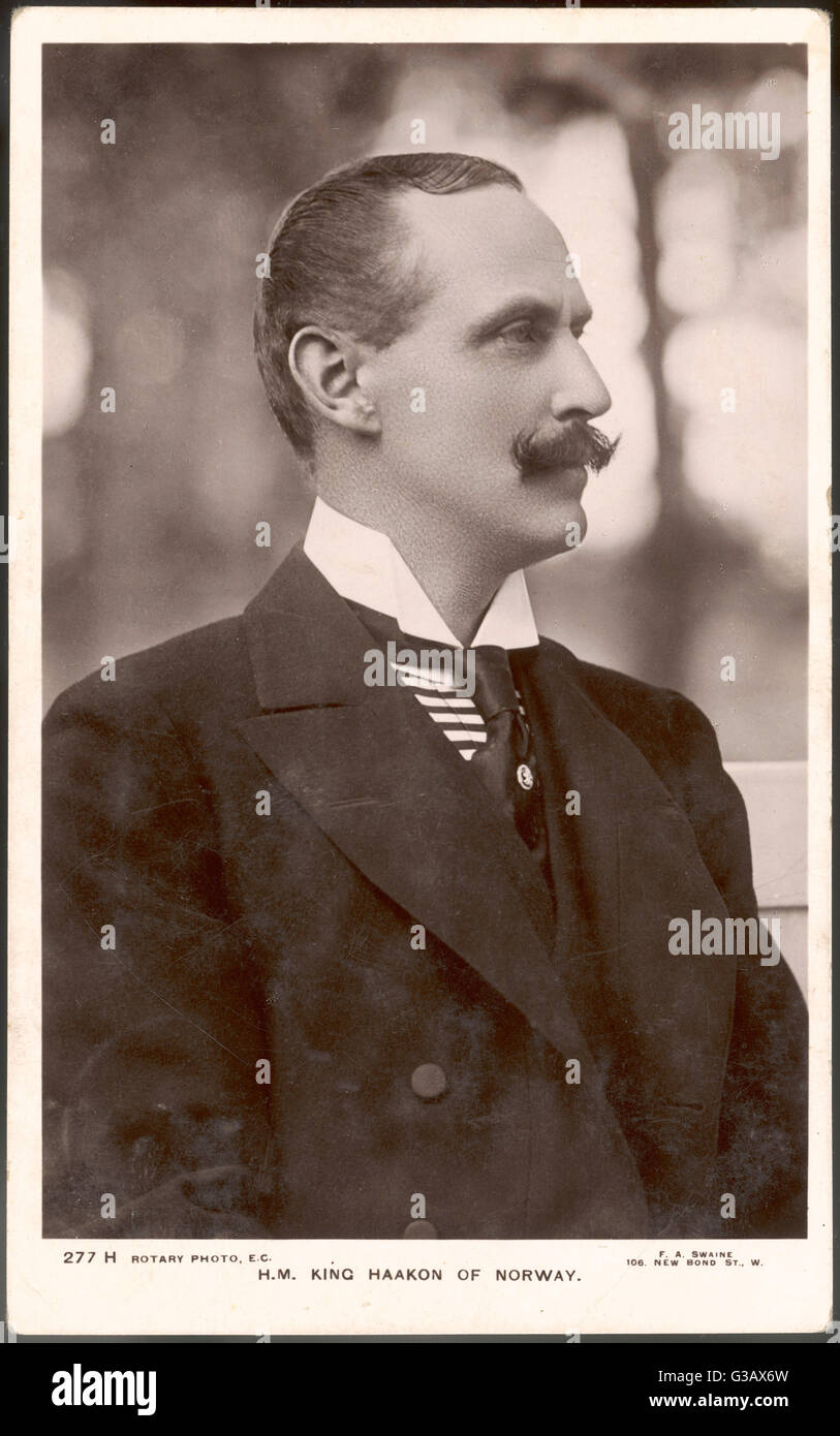HAAKON VII  King of Norway (1905-57);  formerly Prince Charles of Denmark, son of Frederick VIII     Date: 1872 - Stock Image