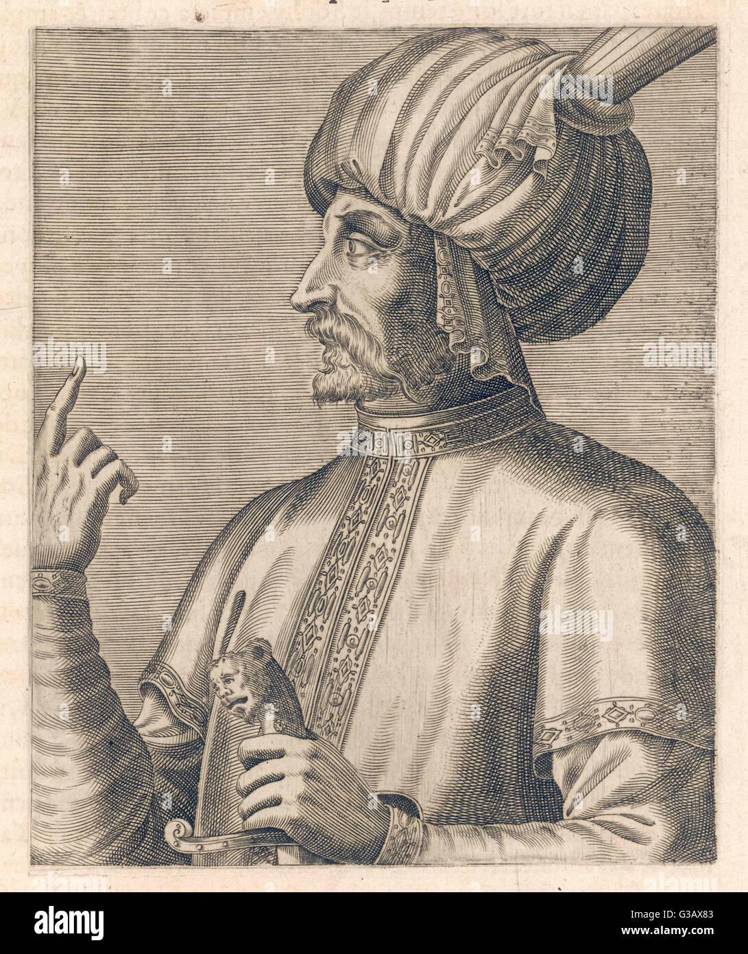 ESMAIL I or SHAHANSHAH  (King of Kings)  Shah of Iran (1501-24)      Date: 1487 - 1524 - Stock Image