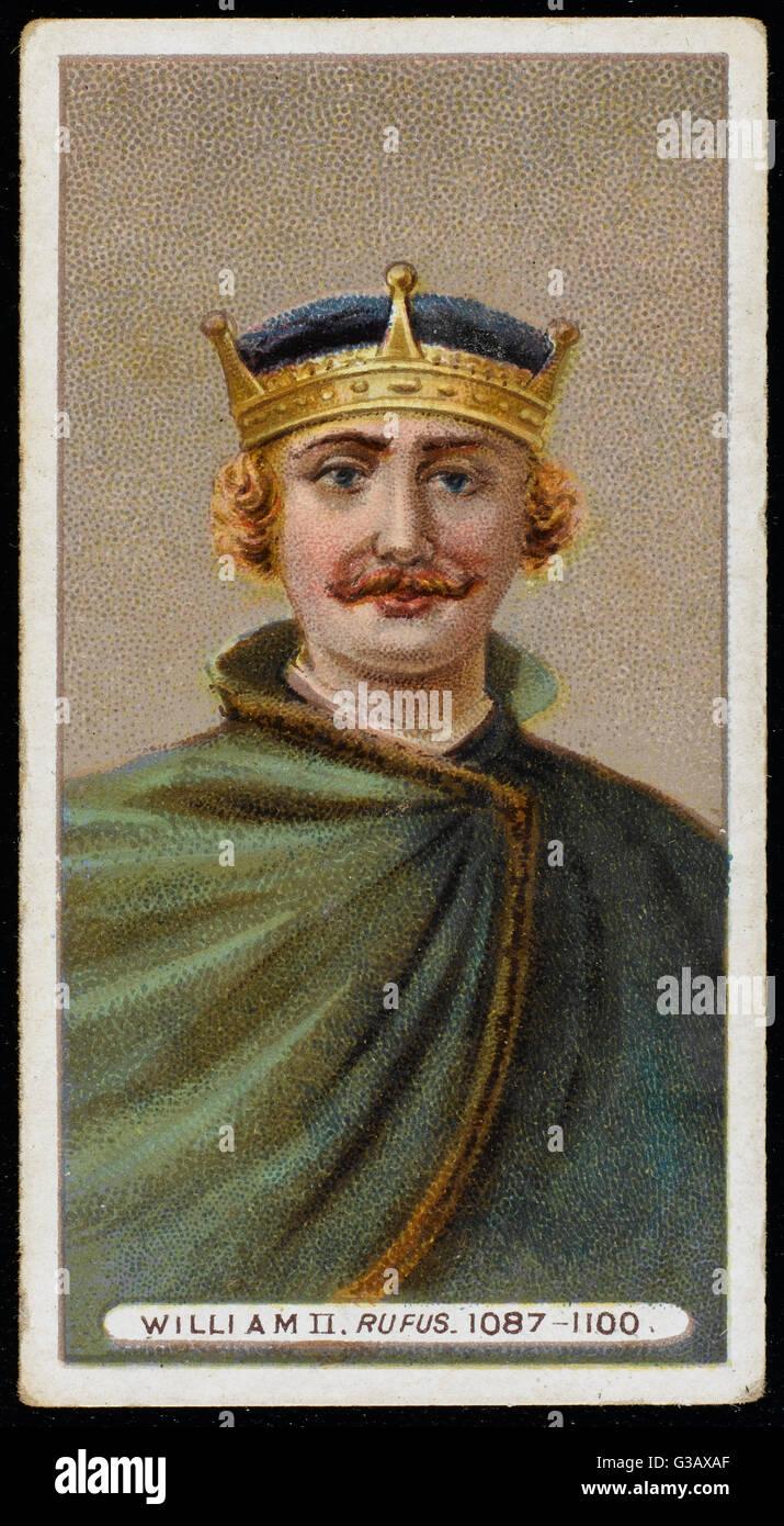 WILLIAM II RUFUS (1056? - 1100) King of England (1087-1100) - Stock Image