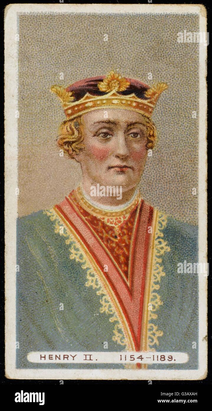 HENRY II (1133 - 1189) King of England  (1154-89) - Stock Image